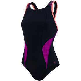 speedo Speedo Fit PowerMesh Pro Swimsuit Damen black/diva/fluo orange